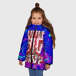 Куртка зимняя для девочки Little Big: Rave цвета 3D-черный — фото 2