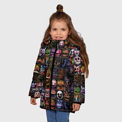 Куртка зимняя для девочки Five Nights At Freddy's цвета 3D-черный — фото 2