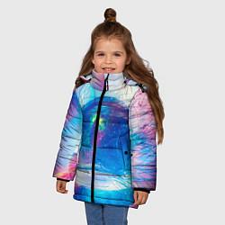 Куртка зимняя для девочки Космонавт - космос цвета 3D-черный — фото 2