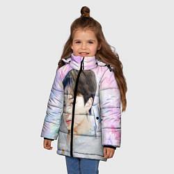 Куртка зимняя для девочки БТС 2020 Season Greeting Чимин цвета 3D-черный — фото 2