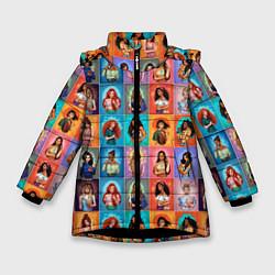 Куртка зимняя для девочки Принцессы цвета 3D-черный — фото 1