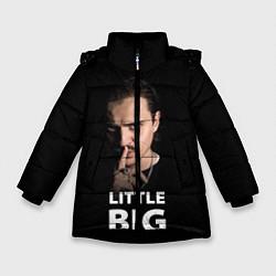 Куртка зимняя для девочки Little Big: Илья Прусикин цвета 3D-черный — фото 1