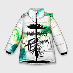 Куртка зимняя для девочки Papa Roach цвета 3D-черный — фото 1