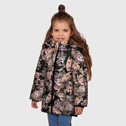 Куртка зимняя для девочки Juice WRLD цвета 3D-черный — фото 2