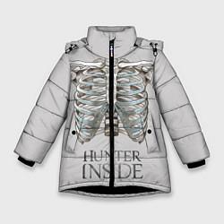 Куртка зимняя для девочки Supernatural Hunter Inside цвета 3D-черный — фото 1