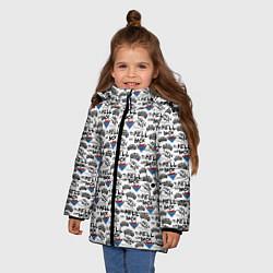 Куртка зимняя для девочки To Hell And Back цвета 3D-черный — фото 2
