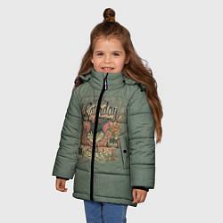 Куртка зимняя для девочки Saturday Madness цвета 3D-черный — фото 2