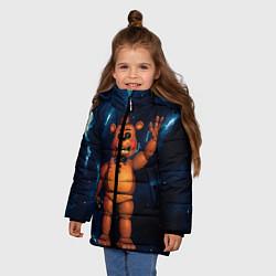 Куртка зимняя для девочки Five Nights At Freddys цвета 3D-черный — фото 2