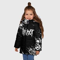 Куртка зимняя для девочки SLIPKNOT цвета 3D-черный — фото 2