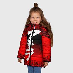 Куртка зимняя для девочки AKIRA цвета 3D-черный — фото 2
