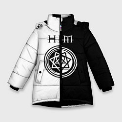 Куртка зимняя для девочки HIM цвета 3D-черный — фото 1
