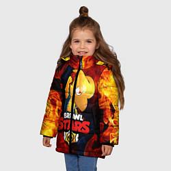 Куртка зимняя для девочки BRAWL STARS CROW PHOENIX цвета 3D-черный — фото 2
