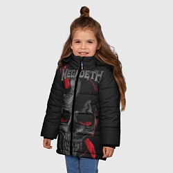 Куртка зимняя для девочки Megadeth цвета 3D-черный — фото 2
