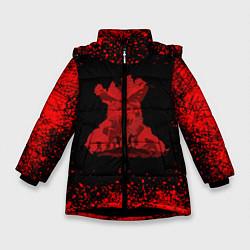 Куртка зимняя для девочки UNCHARTED цвета 3D-черный — фото 1