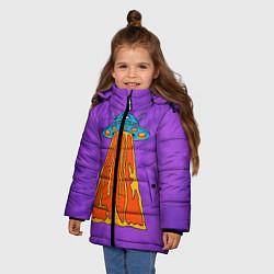 Куртка зимняя для девочки Vibes of Love цвета 3D-черный — фото 2