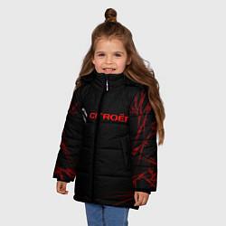 Куртка зимняя для девочки CITROЁN цвета 3D-черный — фото 2