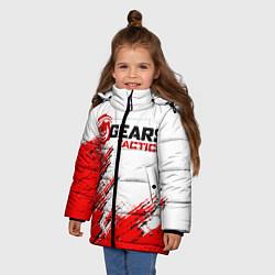 Куртка зимняя для девочки GEARS TACTICS цвета 3D-черный — фото 2