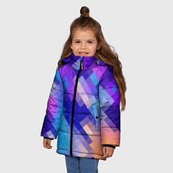 Куртка зимняя для девочки Пикси цвета 3D-черный — фото 2