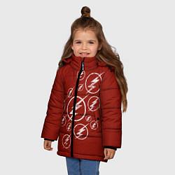 Куртка зимняя для девочки The Flash Logo цвета 3D-черный — фото 2