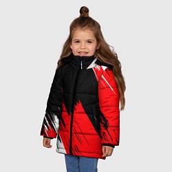 Куртка зимняя для девочки ТЕКСТУРА цвета 3D-черный — фото 2