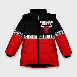 Куртка зимняя для девочки CHICAGO BULLS цвета 3D-черный — фото 1