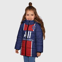 Куртка зимняя для девочки PSG home 20-21 цвета 3D-черный — фото 2