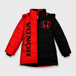 Куртка зимняя для девочки HONDA цвета 3D-черный — фото 1
