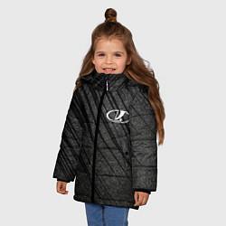 Куртка зимняя для девочки LADA цвета 3D-черный — фото 2