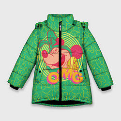 Детская зимняя куртка для девочки с принтом Minnie Mouse OMG, цвет: 3D-черный, артикул: 10250079106065 — фото 1
