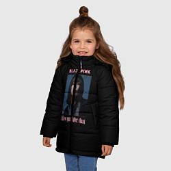 Куртка зимняя для девочки BLACKPINK - Lisa цвета 3D-черный — фото 2