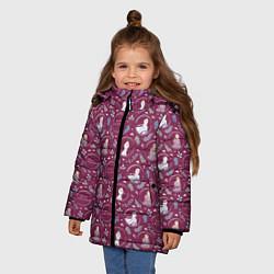 Куртка зимняя для девочки Холодное сердце 2 цвета 3D-черный — фото 2