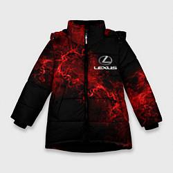 Куртка зимняя для девочки LEXUS цвета 3D-черный — фото 1