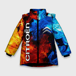 Куртка зимняя для девочки CITROEN цвета 3D-черный — фото 1