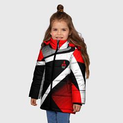 Куртка зимняя для девочки Mitsubishi ФОРМА цвета 3D-черный — фото 2