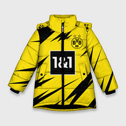 Куртка зимняя для девочки HAALAND Borussia Dortmund цвета 3D-черный — фото 1