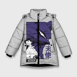 Куртка зимняя для девочки Синдзи Икари цвета 3D-черный — фото 1