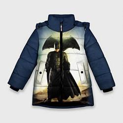 Куртка зимняя для девочки Лига справедливости цвета 3D-черный — фото 1