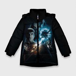 Куртка зимняя для девочки Star Trek цвета 3D-черный — фото 1