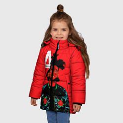 Куртка зимняя для девочки TheWeeknd цвета 3D-черный — фото 2