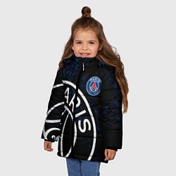 Куртка зимняя для девочки ПСЖ цвета 3D-черный — фото 2