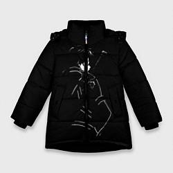 Куртка зимняя для девочки Кирито цвета 3D-черный — фото 1