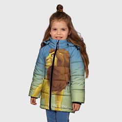 Куртка зимняя для девочки Взрослый Симба цвета 3D-черный — фото 2