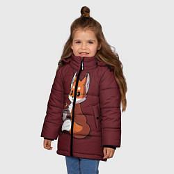 Куртка зимняя для девочки Кофе любят не только люди цвета 3D-черный — фото 2