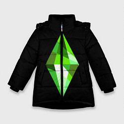 Куртка зимняя для девочки The Sims Plumbob цвета 3D-черный — фото 1