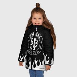Куртка зимняя для девочки Chelsea BW цвета 3D-черный — фото 2