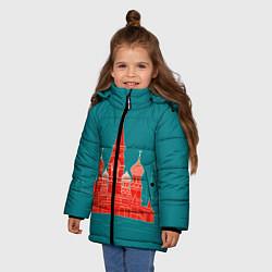 Детская зимняя куртка для девочки с принтом Москва, цвет: 3D-черный, артикул: 10268434306065 — фото 2