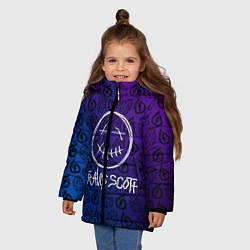 Куртка зимняя для девочки TRAVIS SCOTT цвета 3D-черный — фото 2