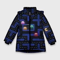 Куртка зимняя для девочки Pacman цвета 3D-черный — фото 1