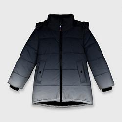Куртка зимняя для девочки Градиент цвета 3D-черный — фото 1