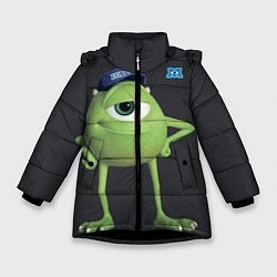 Куртка зимняя для девочки Майк Вазовски цвета 3D-черный — фото 1